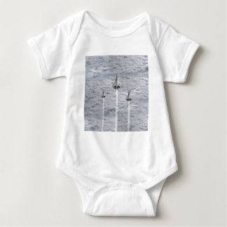 Climbing Jets in the Clouds Baby Bodysuit