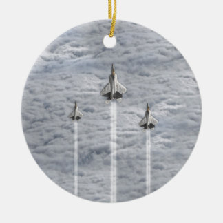 Climbing Jets in the Clouds Ceramic Ornament