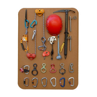 Climbing / Mountaineering Gear Rectangle Magnets