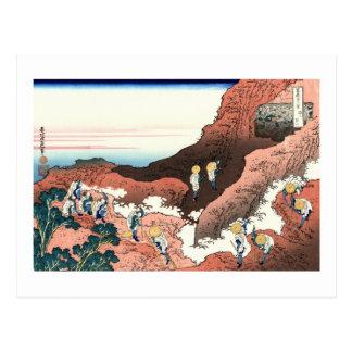 Climbing on Fuji Postcard