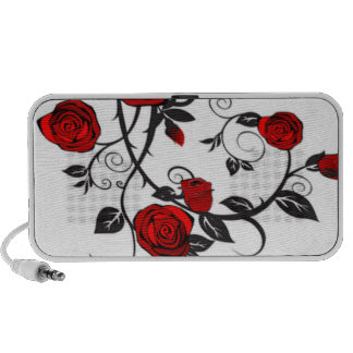 Climbing Red Roses Notebook Speakers