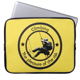 Climbing, Risk pleasure Laptop Sleeve