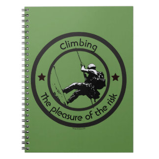 Climbing, Risk pleasure Spiral Notebook
