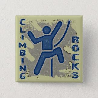 Climbing Rocks 15 Cm Square Badge