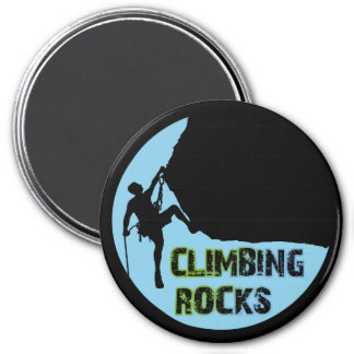 Climbing Rocks 7.5 Cm Round Magnet