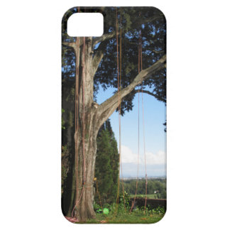 Climbing ropes hanging from a big tree iPhone 5 case