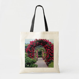 Climbing Rose Arches Yellow flowers Canvas Bag