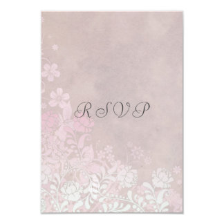 """Climbing Rose in Pink RSVP Reply Cards 3.5"""" X 5"""" Invitation Card"""