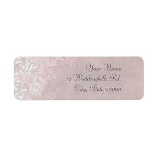 Climbing Rose in Pink Wedding Return Address Label