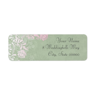 Climbing Rose Wedding Labels Custom Return Address