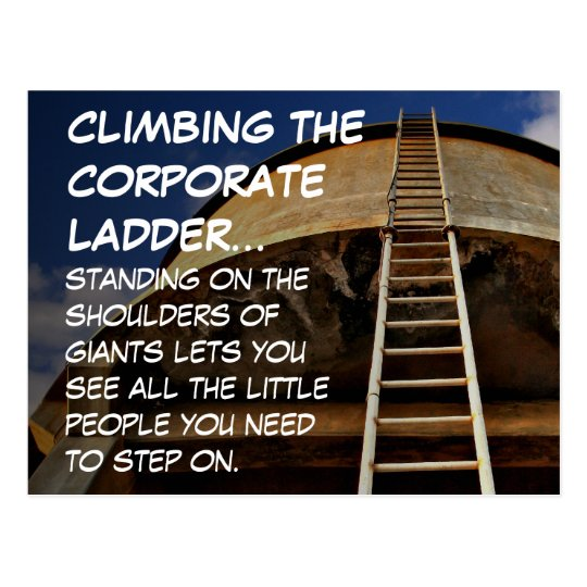 Climbing the corporate ladder gives perspective postcard