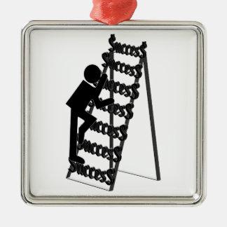Climbing the Ladder of Success Metal Ornament
