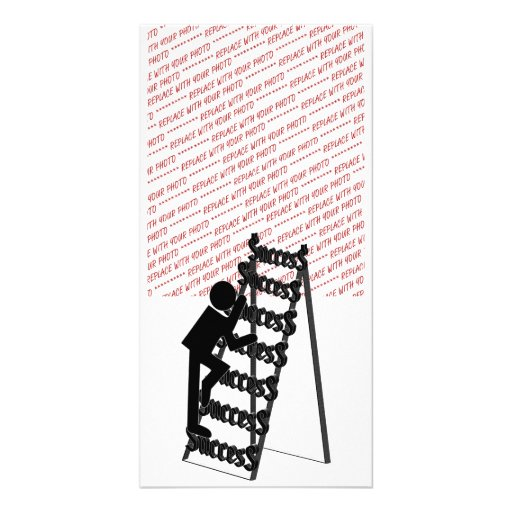 Climbing the Ladder of Success Photo Cards