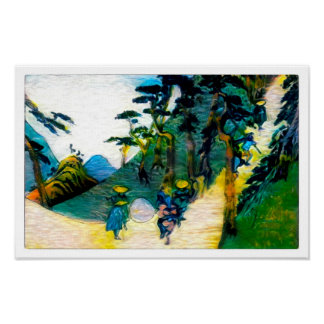 Climbing The Path - Canvas Art Print