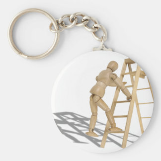 ClimbLadder090410 Basic Round Button Key Ring