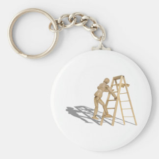 ClimbLadder090410 Basic Round Button Key Ring