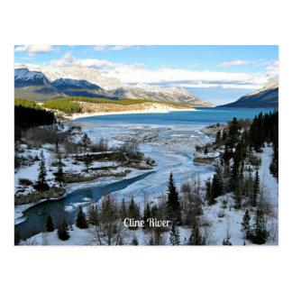 Cline River, Alberta, Canada Postcard