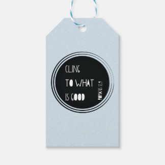 """""""Cling to what is good"""" Bible verse Gift Tags"""