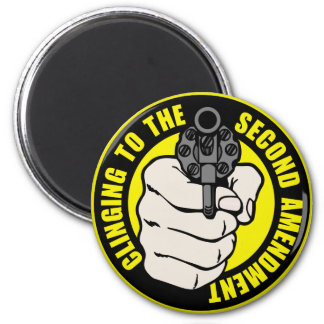 Clinging to the Second Amendment 6 Cm Round Magnet