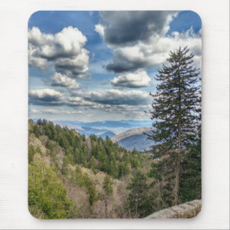 Clingman's Dome Overlook - Great Smoky Mountains Mouse Pad