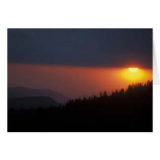 Clingmans Dome Sunset Smoky Mountains Greeting Card