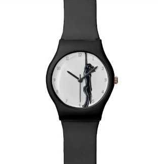Clingy Black Lab Off-Leash Art™ Watch