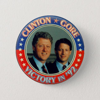 Clinton and Gore '92 jugate 6 Cm Round Badge