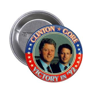 Clinton and Gore '92 jugate 6 Cm Round Badge