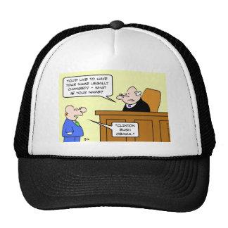 clinton bush obama judge change name mesh hat