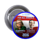 Clinton Castro 2016 political jugate button