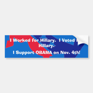 Clinton democrats for Obama Bumper Sticker
