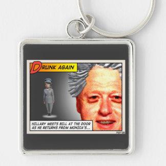 Clinton Drunk Again Key Chains