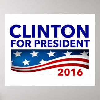 Clinton for President 2016 Poster
