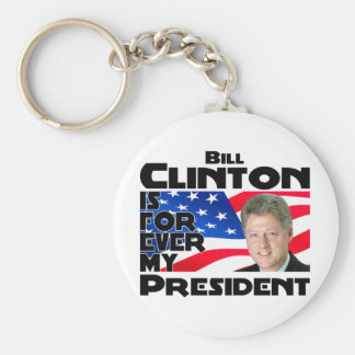 Clinton Forever Basic Round Button Key Ring