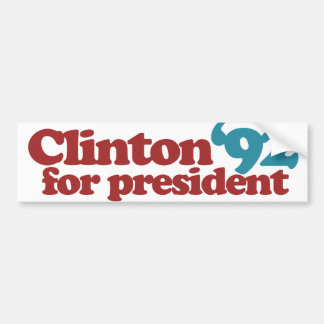 Clinton Gore 92 Bumper Sticker