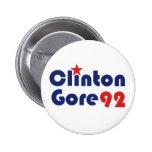 Clinton Gore 92 Retro Democrat Button