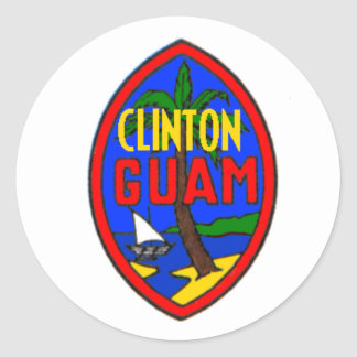 Clinton GUAM Sticker