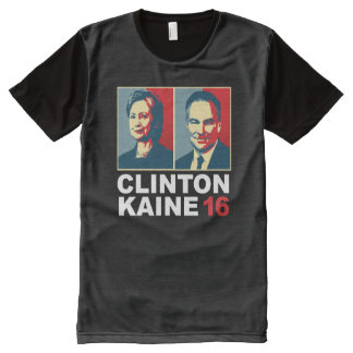 Clinton Kaine 16 - Posterized -- All-Over Print T-Shirt