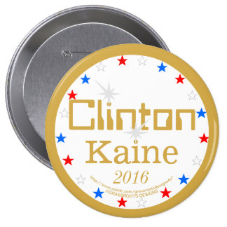 Clinton Kaine 2016 Strong Ticket 4 Strong America 10 Cm Round Badge