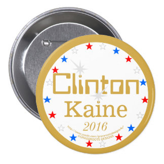 Clinton Kaine 2016 Strong Ticket 4 Strong America 7.5 Cm Round Badge