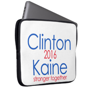 Clinton Kaine 2016 Stronger Together Computer Sleeve