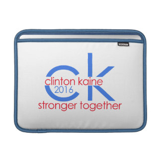 Clinton Kaine 2016 Stronger Together MacBook Air Sleeves