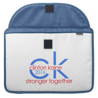 Clinton Kaine 2016 Stronger Together MacBook Pro Sleeve