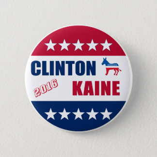 Clinton Kaine   Election 2016 6 Cm Round Badge