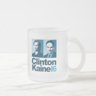 Clinton Kaine for America 2016 Frosted Glass Coffee Mug