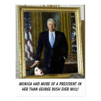 clinton_portrait_monica, Monica had more of a p... Postcard
