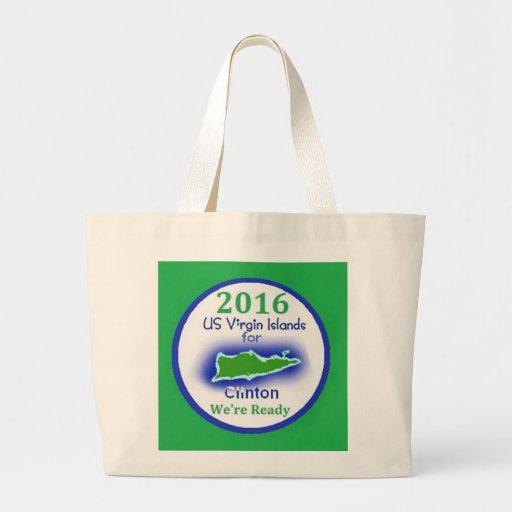 Clinton Virgin Islands 2016 Canvas Bags