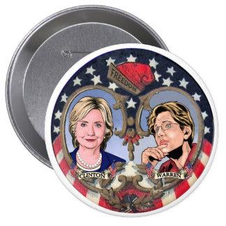 Clinton & Warren 2016 10 Cm Round Badge