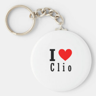 Clio, Alabama City Design Basic Round Button Key Ring