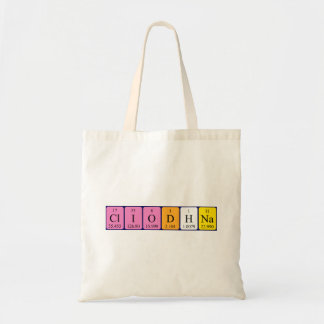 Cliodhna periodic table name tote bag
